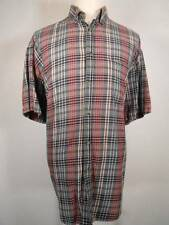 Nice Men's XL Wrangler 20X Twenty X Multi-Color Plaid SS Button Down Shirt GUC