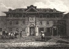 Blackwell Hall, King Street, London. Antique engraved print 1817 old