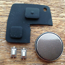 FOR Toyota Rav4 Yaris MR2 Corolla Avensis 2 Button Remote Key Case Rubber kit