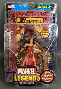 Marvel Legends ~ Elektra Series IV + Custom Mini Poster & Wall Stand  **NIB**