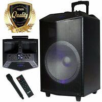 PKL105 1500W 15 in Power Party / USB / Rechargeable Portable Speaker Work w/ BT