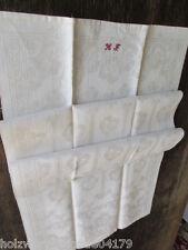 altes Leinen Geschirrtuch Handtuch Tischläufer Stiefmütterchen Monogramm 207