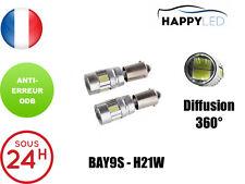 2 X AMPOULE VEILLEUSE 6 LED BAY9S H21W BLANC 6000K ANTI ERREUR ODB