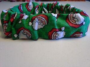 Slide On Christmas Dog Collar Scrunchie, Custom Made by Linda, XS, S