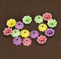 10PCS Ceramic Porcelain Flower Bead Caps Spacer beads Charm Findings 4mmx10mm