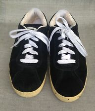 "VIntage VANS ""Wally"" Black Suede Skateboard Shoes Size 8"