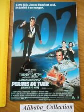 PLAQUE Tole James Bond 007 *** Permis de tuer *** Film  Timothy Dalton Pub