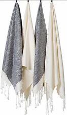 """(Set of 4) Unique Hand Face Towel Set 100% Turkish Cotton 20""""x31"""" Black &White"""