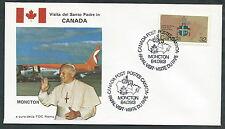 1984 VATICANO VIAGGI DEL PAPA CANADA MONCTON - RM3