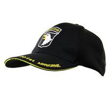 Casquette 101 st Airborne  noire ,paintball,air soft,loisir usa ,2 eme guerre