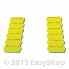 SPECIAL OFFER 26 X 12mm Price Marking Gun Labels CT4 Motex Yellow Perm Adhesive