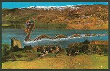 Loch Ness Monster at Castle Urquhart - Colourmaster Printed Postcard