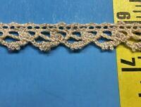 5 MTRS LOT: 1980/'s Natural /'Unbleached/' Pure Cotton Cluny Lace  Fine Crochet Lace Trim 45MM=1/&34 Inch Natural  Ecru Made in EU