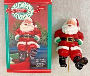 "Hallmark Santa Claus Christmas Stocking Hanger w/Box 5"""