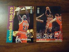 Michael Jordan 2 Card Lot 1995 Rare Players Club UD Collectors Choice # 210 324