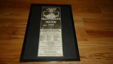 MONSTERS OF ROCK 1992 iron maiden-framed original poster sized advert