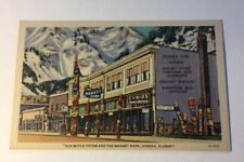 Post Card Old Witch Totem and the Nugget Shop Juneau Alaska Unsent Linen