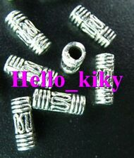 200Pcs Tibetan silver wire curved tube spacer bead A27