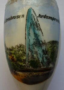 ALTE PORZELLANPFEIFE BAD OEYNHAUSEN JORDANSPRUDEL um 1930 Länge ca. 8,7 cm