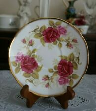 VINTAGE Queen's Bone China Red and Pink Roses Saucer Only, England