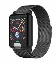 Smartwatch E04 IPS Bluetooth Pulsuhr Milanaise Armband Magnetverschluss iOS IP68