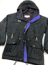 Men's Columbia Vintage 90s Black Fleece Lined Winter Radial Sleeve Jacket Medium