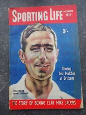 VINTAGE SPORTING LIFE MAGAZINE. DENIS COMPTON CRICKET - DECEMBER 1950