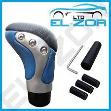 Cromo azul Cuero Gear Shift Knob Stick Manual De Palanca De Cambios Selector De Palanca De Cambio
