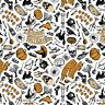 Patrick Lose Happy Halloween White 100% cotton fabric by the yard