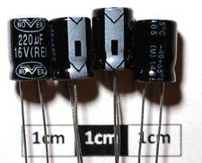 NoverRE Radial Electrolytic Capacitor 220µF 16V 85°C (Pack of 4)