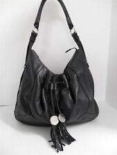Furla Italy Black Leather Large Hobo Shoulder Bag