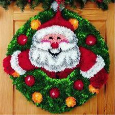 "Gex Christmas Latch Hook Kit Rug 21X21"" Craft Embroidery Christmas Gift"