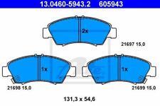 ATE vorne BREMSKLÖTZE Bremsbeläge Honda Civic V VI / Jazz II / Logo ATE 13-0460-