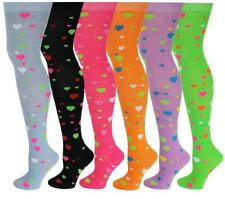 6 Pairs Women Valentines Hearts Fancy Design Thigh High Over The Knee Socks 9-11