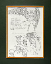 HAWKMAN & GREEN ARROW MODEL SHEET PRINT PROFESSIONALLY MATTED Alex Ross art JLA