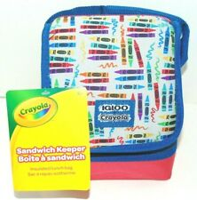 Igloo Sandwich Keeper Bag Lunch Box Bag - Crayons Blue/Red Brand New Crayola!
