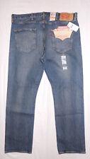 LEVI'S 501 MENS STRAIGHT LEG BUTTON-FLY BLUE JEANS -38X30- STRETCH W38 L30 #2367