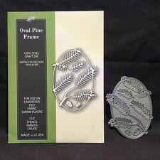 Oval Pine Frame metal die set Poppystamps cutting dies 1190 Christmas branches