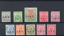 India 1914 I.E.F. set of 10 mint