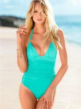 King & Ace │ Ruched Buckled Halter One-Pc Swimsuit Swimwear