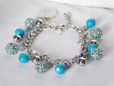 "Lovely Lia Sophia CONFECTIONARY Chain Bracelet, Cut Crystals, 7-8"", NIB"