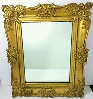Antique Victorian Gesso Gold Gilt Wood Carved Etched Wall