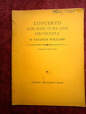 CONCERTO  FOR  BASS TUBA  AND   ORCHESTRA    R.  VAUGHAN  WILLIAMS