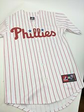 New listing Philadephia Phillies Chase Utley Majestic Stitched Baseball Jersey Whit Red Sz S