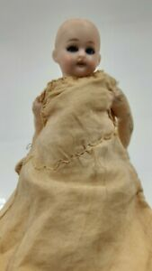 Old Vintage Antique Pottery Bisque China Doll moving eyes Victorian