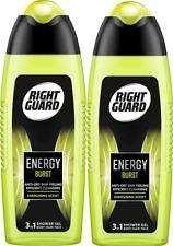 2x Right Guard 3in1 Body-Hair-Face ENERGY BURST Shower Gel 250ml