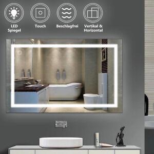 Wandspiegel 80 x 60 cm LED Spiegel mit TOUCH BESCHLAGFREI Badspiegel Kaltweiß