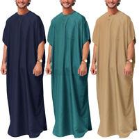 Hommes Arabe Islamique Caftan Caftan Égypte Toute la longueur Abaya Robe Tunique