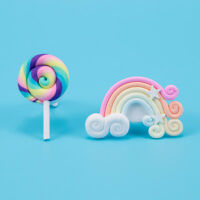 Auto Air Freshener Lollipop/Rainbow Shaped Air Outlet Ornament Car-styling Tools