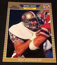 MICHAEL WALTER 1989 Pro Set ERROR Blank Back Super Bowl XXIV Proof? RARE 49ers